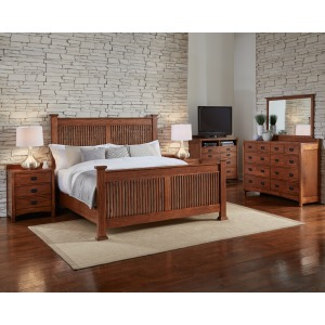 King Slat Bed Set