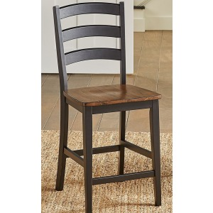 Stormy Ridge Ladderback Counter Stool