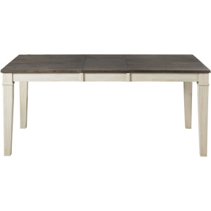 HURON COCOA CHALK LEG TABLE