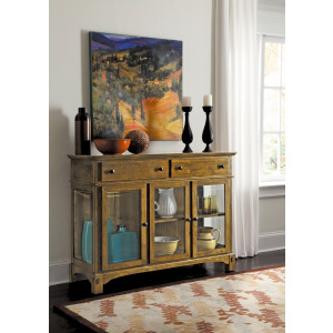 Laurelhurst Rustic Oak 3-Door Server