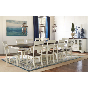 MARIPOSA COCOA CHALK TRESTLE TABLE