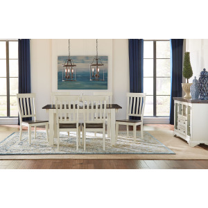 MARIPOSA COCOA CHALK DINING TABLE