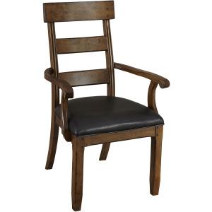 Ozark Plank Upholstered Arm Chair