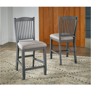 Port Townsend Slatback Uph Counter Stool