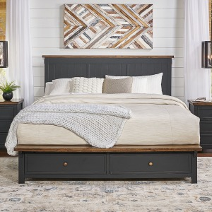 Stormy Ridge Cal King Storage Bed