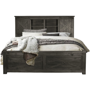 Queen Storage Headboard W/ Storage Footboard