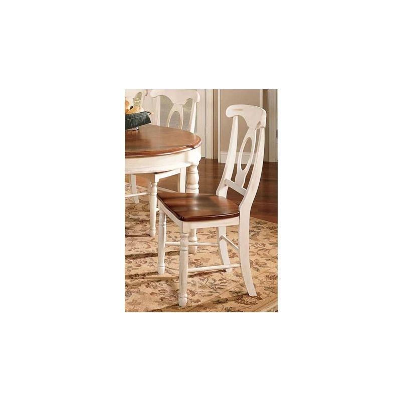 British Isles Napoleon Side Chair - Merlot/Buttermilk