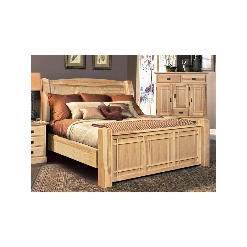 Amish Highlands Queen Arch Panel Bed