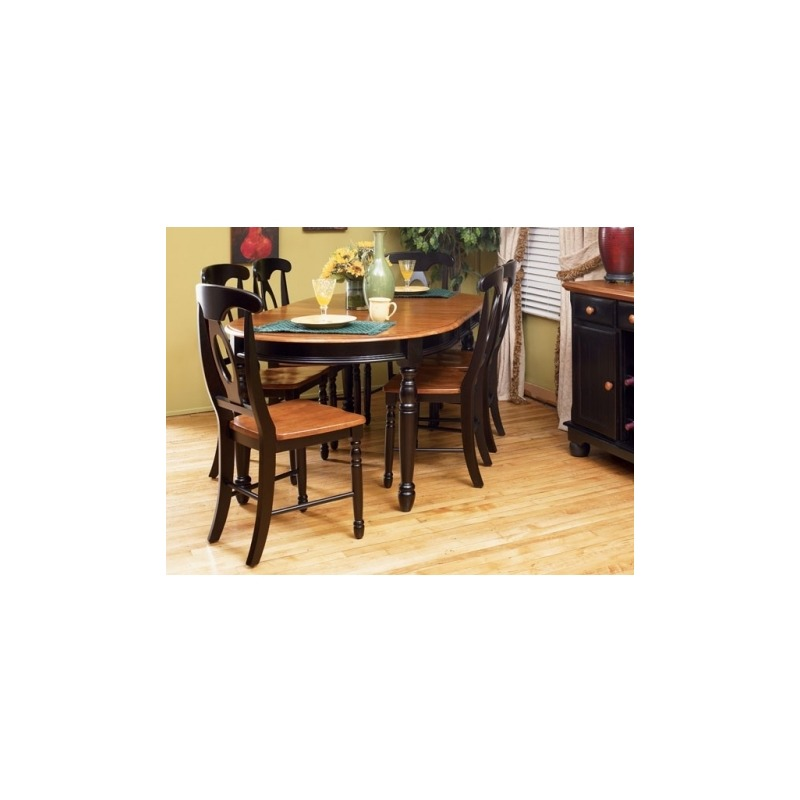 British Isles Oval Leg Table - Honey/Espresso