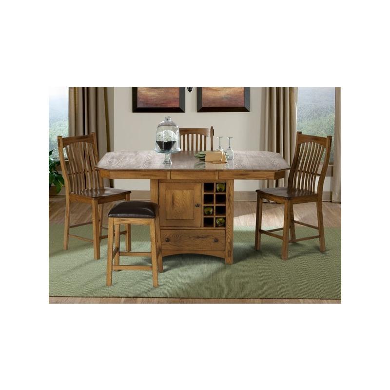 Laurelhurst 5-Piece Wine Storage Gather Height Table Set