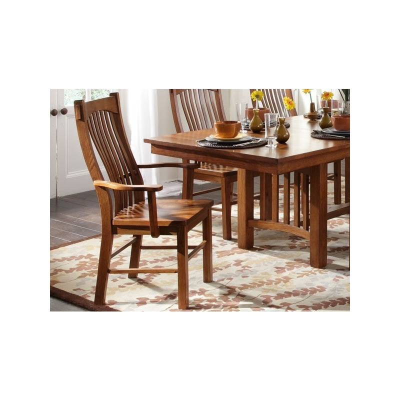 laurelhurst slat arm chair mission oak by a america lau oa 2 76 rh darbysfurniture com