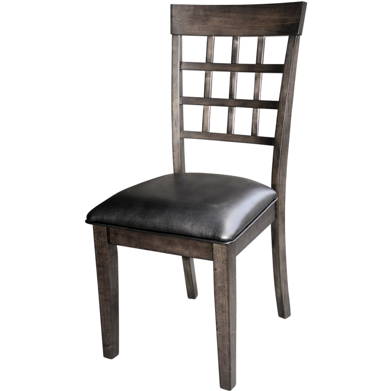 Gridback Upholstered Side Chair