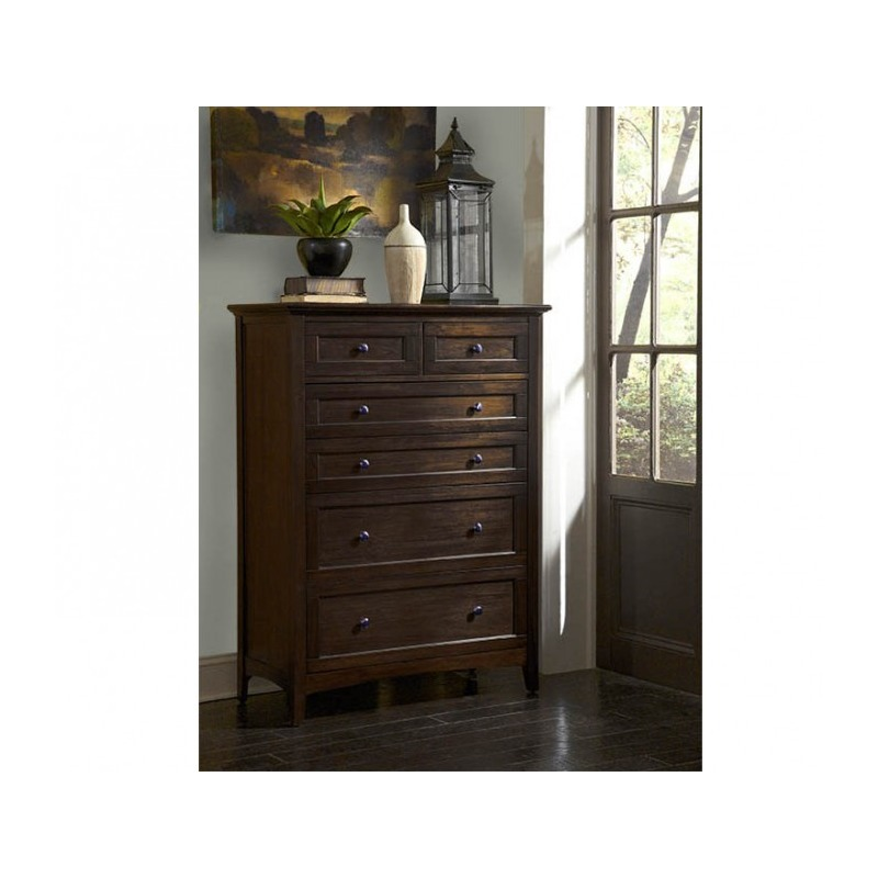Westlake Dark Mahogany 6 Drawer Chest