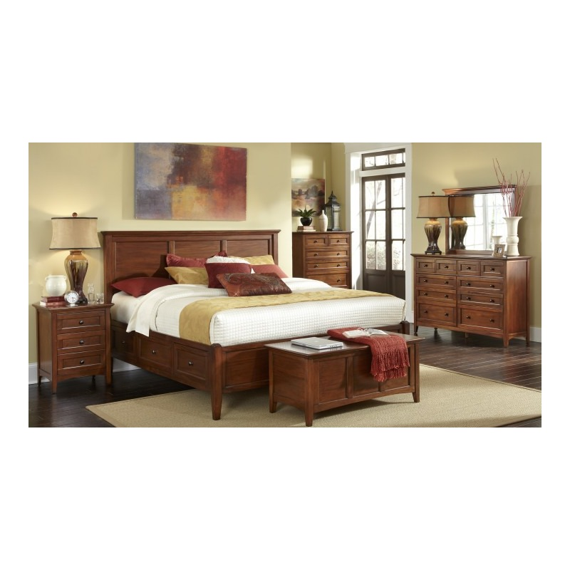 Westlake Bedroom Set -- E. King Storage Bed