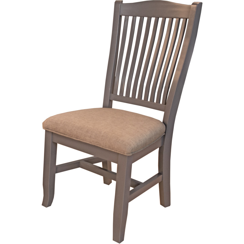 SLATBACK SIDE CHAIR -UPH. SEAT