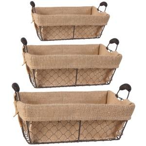 Joyce Baskets w/Canvas