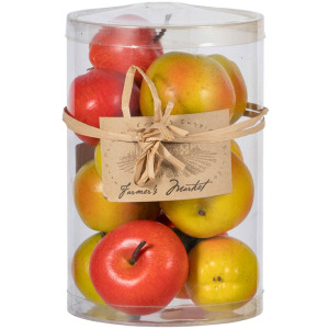 Faux Fall Apples, Red & Green