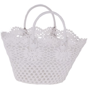 Cotton/Resin Lace Basket