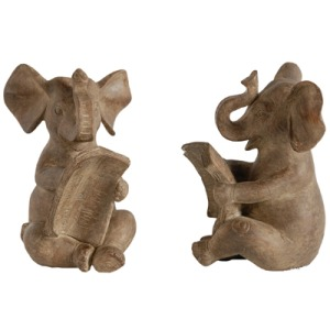 "S/2 4.3x4x6"" Elephant Bookends 6S/CTN"