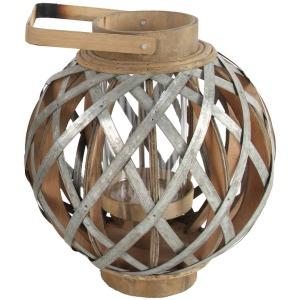 "11.5x11.5x12.8"" Wood/Metal Lantern 2EA/CTN"