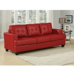 Platinum Red Bonded Leather Sofa w/Queen Sleeper