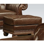 Anondale Top+Split Leather Ottoman
