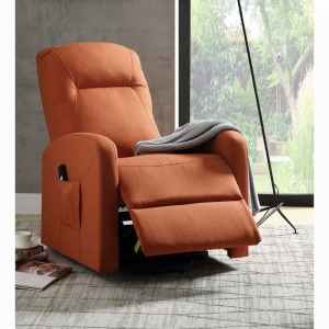Kasia Recliner w/Power Lift - Orange Linen
