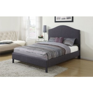 Clyde Queen Bed - Gray Linen