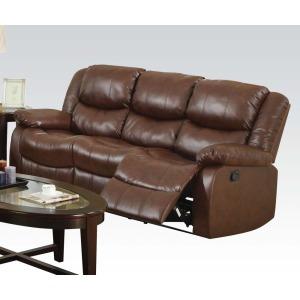 Fullerton Brown Sofa w/Motion