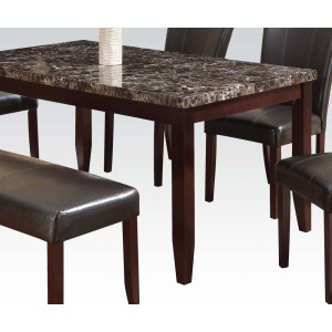 Espresso Dining table w/Faux Marble