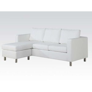 Kemen White Reversible Chaise Sectional