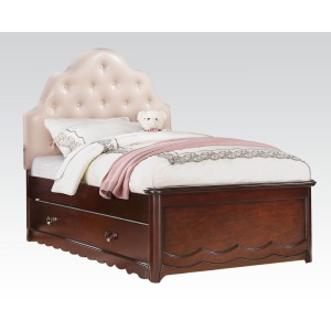 Cecilie Pink Tufted Full Bed