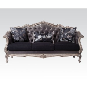 Chantelle Platinum Sofa w/3 Pillows