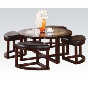 Coffee table & ottomans