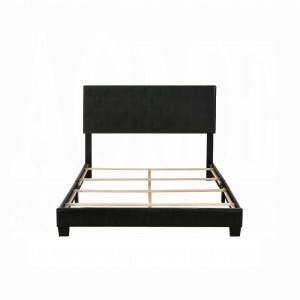 Lien Queen Bed - Black PU