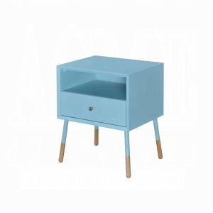 Sonria II End Table - Light Blue & Natural