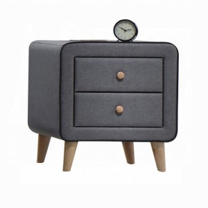 Valda Nightstand - Light Gray Fabric