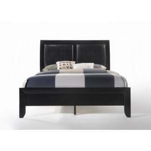 Ireland California King Bed - Black PU & Black