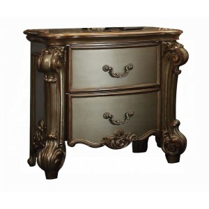 Vendome Nightstand - Gold Patina & Bone