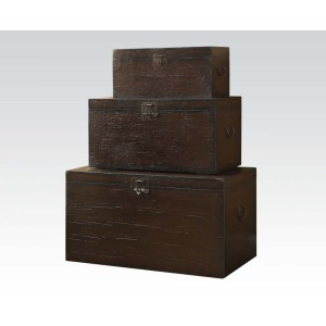 3Pc Pack Stacking Trunks