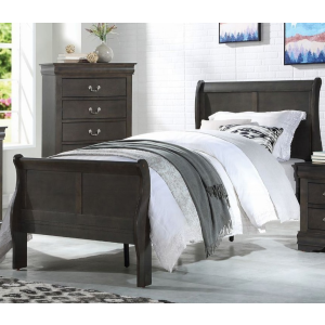 Louis Philippe Twin Bed - Dark Gray