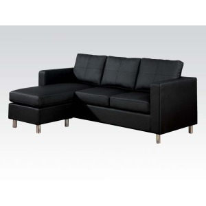 Kemen Black Reversible Chaise Sectional