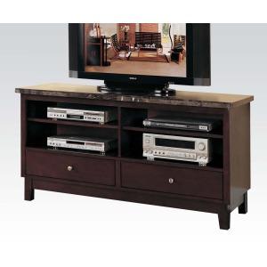 Danville TV Console w/Black Marble Top