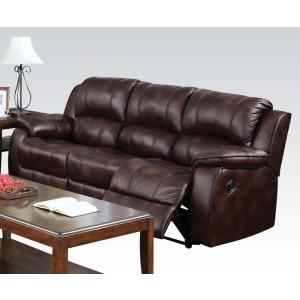 Zanthe Brown Sofa w/Motion