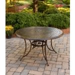 Cast-Top Round Dining Table