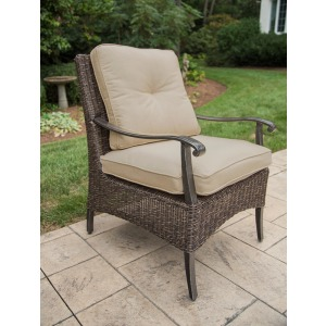 Franklin Dining Chr Chair, Dining, Alum, Woven, Cushion