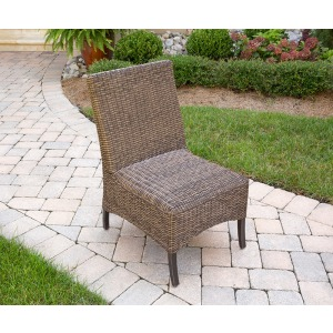 Franklin Dining Chr Chair, Dining, Armless, Alum, Woven