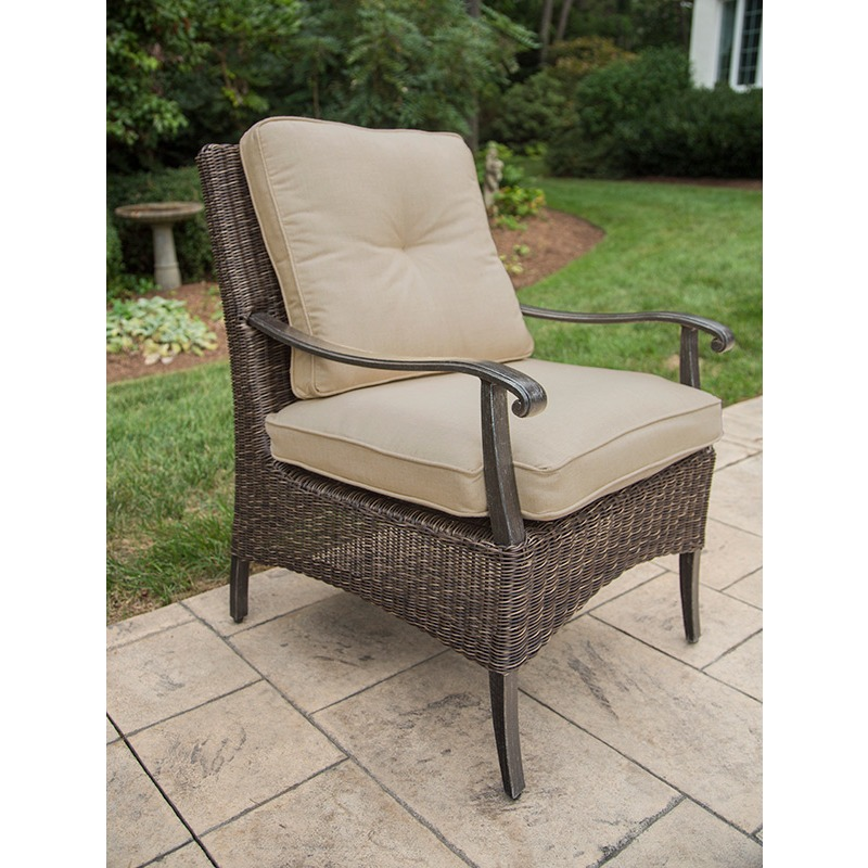 Franklin Dining Chr Chair, Dining, Alum, Woven, Cushion
