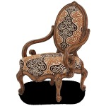 Oval Back Wood Chair