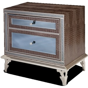 Amazing Gator Upholstered Nightstand